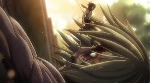 Annie dijatuhkan Mikasa