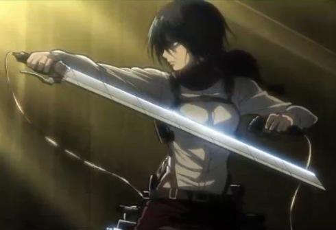 Mikasa Ackerman hilang sabar dan mahu menyerang Annie