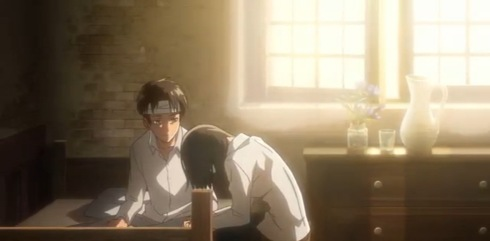 Mikasa dan Eren Berdua-duaan dalam bilik