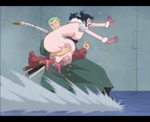 Zoro cuba brek dengan Tashigi sebelum U-Turn